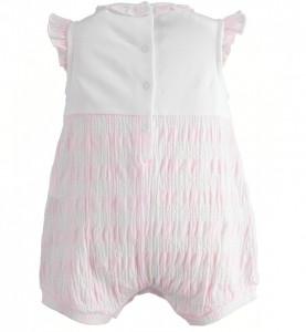 Salopeta pentru fetite cu maneca si pantalon scurt din bumbac IDO
