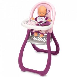 Scaun de masa pentru papusi Smoby Baby Nurse