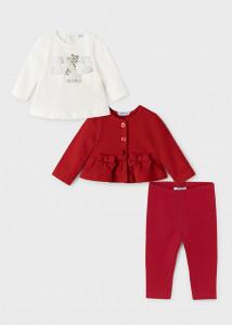 Set ECOFRIENDS leggings, 3 piese, pentru bebe fetiță, Mayoral