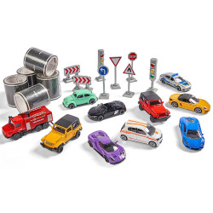 Set Majorette Mega box 10 masinute si accesorii