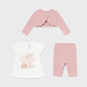 Set realizat din trei piese: tricou, pantalon și bolero, Mayoral