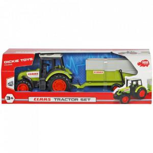 Tractor Dickie Toys Class Celtis 446 RX cu remorca