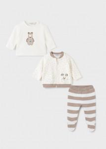 Trening matlasat, 3 piese pentru bebe băiat, Mayoral