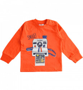 Tricou băieți portocaliu, IDO