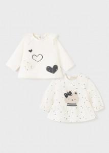 Tricou cu mânecă lungă ECOFRIENDS cu imprimeu, pentru nou-nascut fată, Mayorall