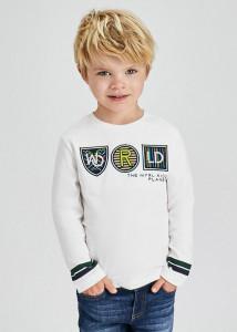 Tricou ECOFRIENDS cu mânecă lungă și aplicație pe piept, pentru băiat, Mayoral