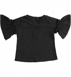 Tricou fete Ido negru cu manecuta bufanta