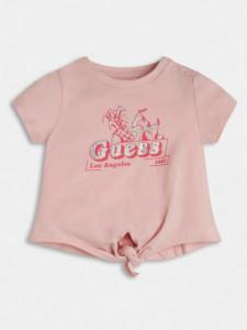 Tricou fete nou nascut din bumbac Guess