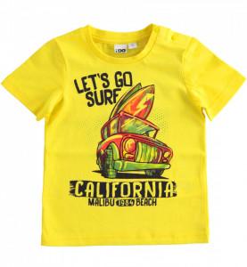 Tricou galben pentru baieti IDO din bumbac