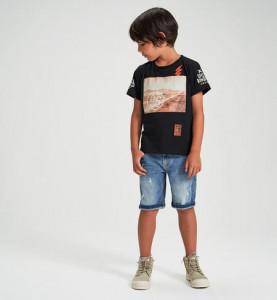 Tricou negru pentru baieti si adolescenti Ido