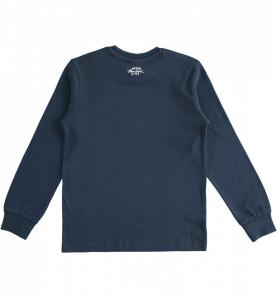 Bluză adolescenți bleumarin, cu desen în partea din față, IDO