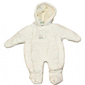 Combinezon alb pentru bebe nau nascut