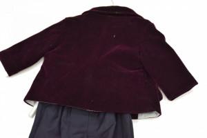 Costum micul print, mov pruna