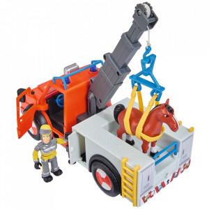 Masina de pompieri Simba Fireman Sam Phoenix cu figurina, cal si accesorii
