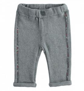 Pantalon pe fond gri pentru bebe băiat nou născut, IDO