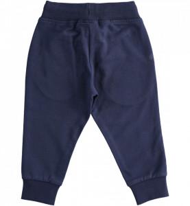Pantaloni baieti de bumbac sport cu manseta IDO