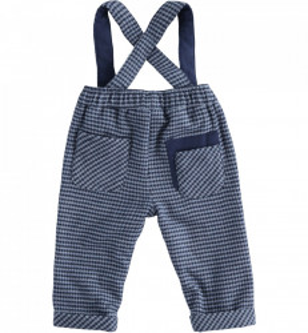 Pantaloni bleumarin cu bretele bebe băiat, IDO