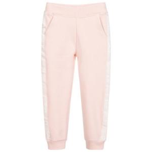 Pantaloni roz de trening pentru fete, GUESS