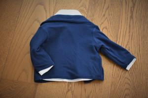 Pulovar gen sacou din material tricotat 100% bumbac