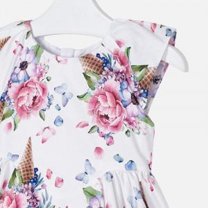 Rochie cu flori in cornet