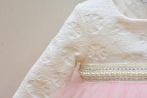 Rochie de botez Anelize cu tiul si brocart