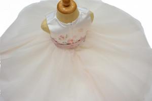 Rochie eleganta botez , Ido , cu trena din tiul