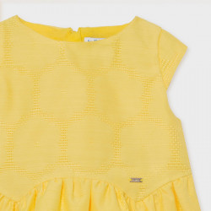 Rochie galbena si verde pentru fetite din panzica Mayoral