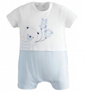 Salopeta de vara pentru bebe nou nascut din bumbac IDO