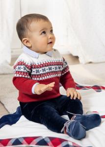 Set ECOFRIENDS din bumbac, format din pulover și pantaloni, pentru nou-născut băiat, Mayoral