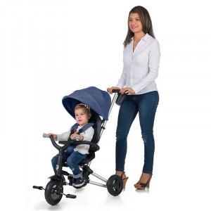 Tricicleta ultrapliabila Qplay Nova albastru inchis