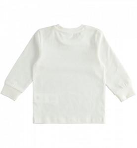 Tricou alb baiat din bumbac IDO