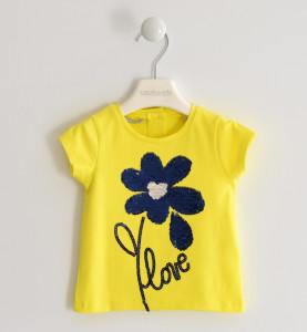 Tricou copii fete galben cu paiete, Sarabanda