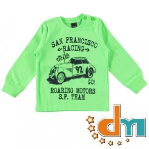 Tricou din bumbac verde de baiat bebe