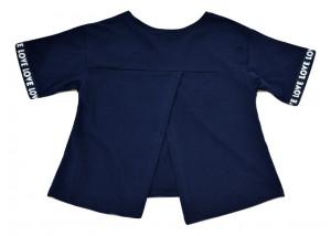 Tricou fete, bleumarin, cu spatele gol
