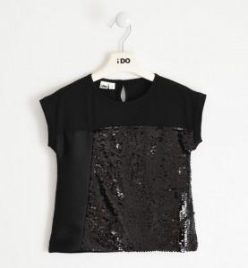 Tricou fete Ido negru cu paiete