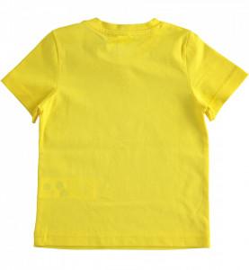 Tricou galben de baieti din bumbac IDO