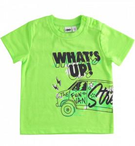 Tricou verde de baieti din bumbac IDO