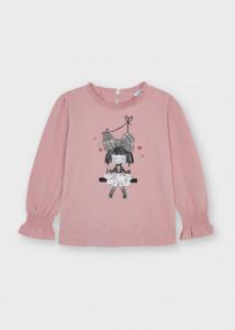 Bluză roz cu fetiță, Mayoral