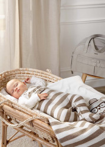 Costum cu salopetă matlasată în dungi pentru nou-născut băiat, Mayoral
