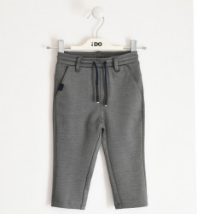 Pantalon de baiat elegant de baiat gri IDO