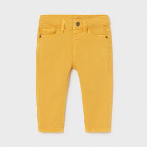 Pantalon galben din tercot Mayoral de baieti