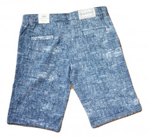 Pantaloni baieti scurti , ido , bumbac ,albastru
