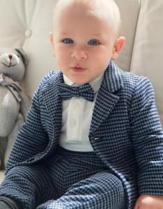 Pantaloni cu bretele bebe baiat IDO belomarin