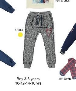 Pantaloni cu tur de trening de baieti din bumbac grosi