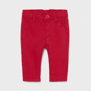 Pantaloni din tercot rosu de bebe baiat Mayoral