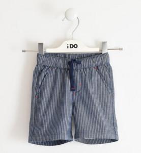Pantaloni scurți Blue Jeans cu dungi albe pentru băieți, iDO