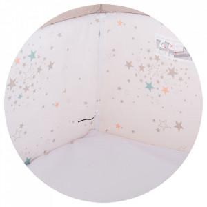 Patut Co-Sleeper Chipolino Close To Me beige printed stars inside