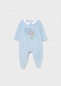 Pijama bleu cu ursuleți pentru bebe fetiță, Mayoral
