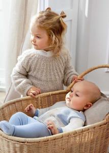 Pulover și pantaloni cu botoșei pentru bebe băiat, Mayoral