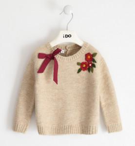 Pulover tricotat fetiță, 12 luni-7 ani, IDO
